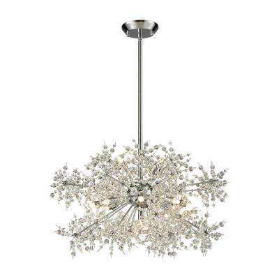 Snowburst 11-Light Polished Chrome Chandelier