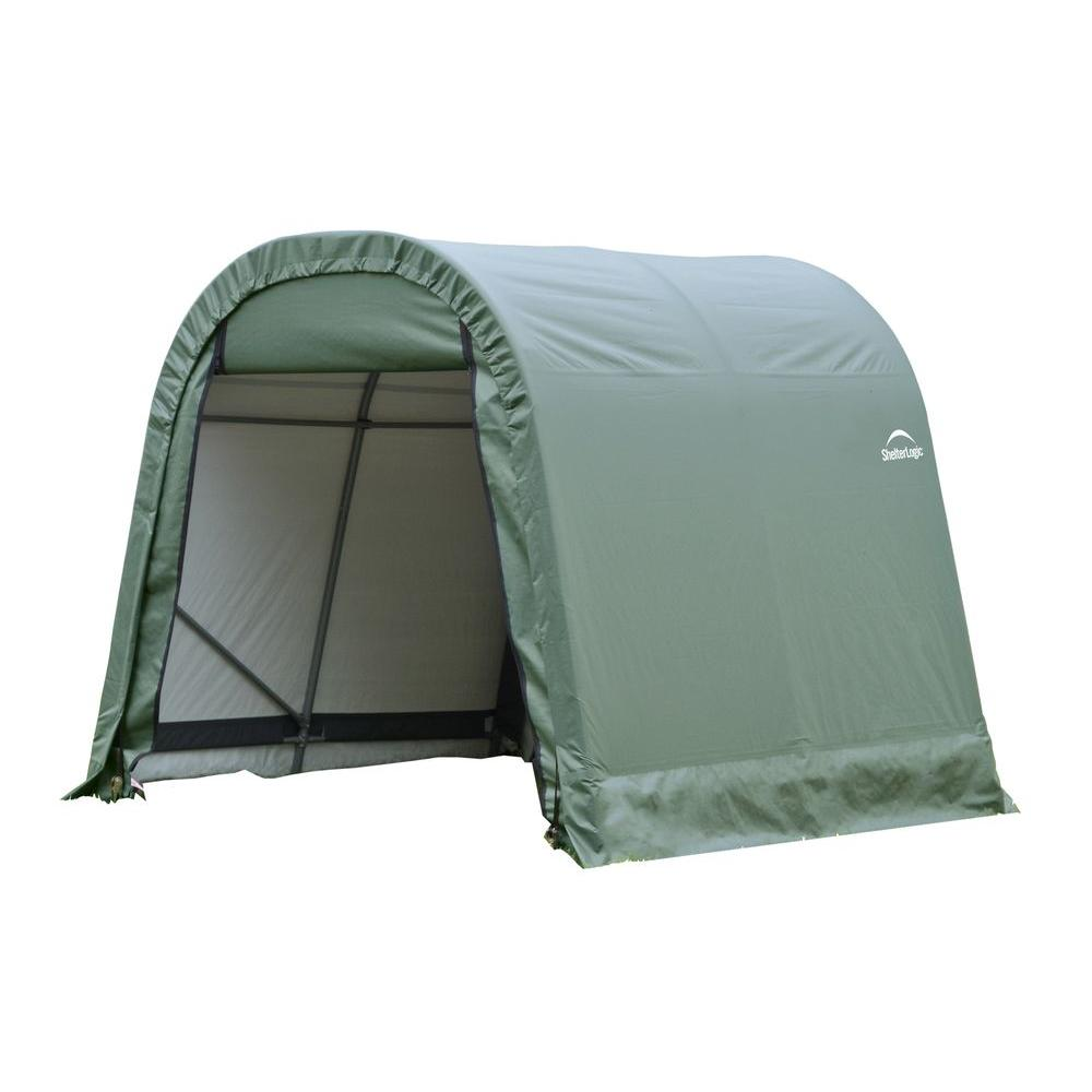 ShelterLogic ShelterCoat 10 ft. x 12 ft. Wind and Snow Rated Garage Round Green STD