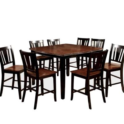 9-Piece Dover Black II Dining Table Set