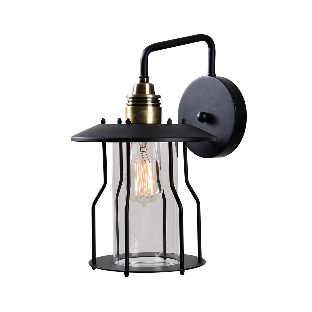 Home Decorators Collection Bronze Motion Sensor Outdoor Medium Wall Mount Lantern GEM1691AM 6