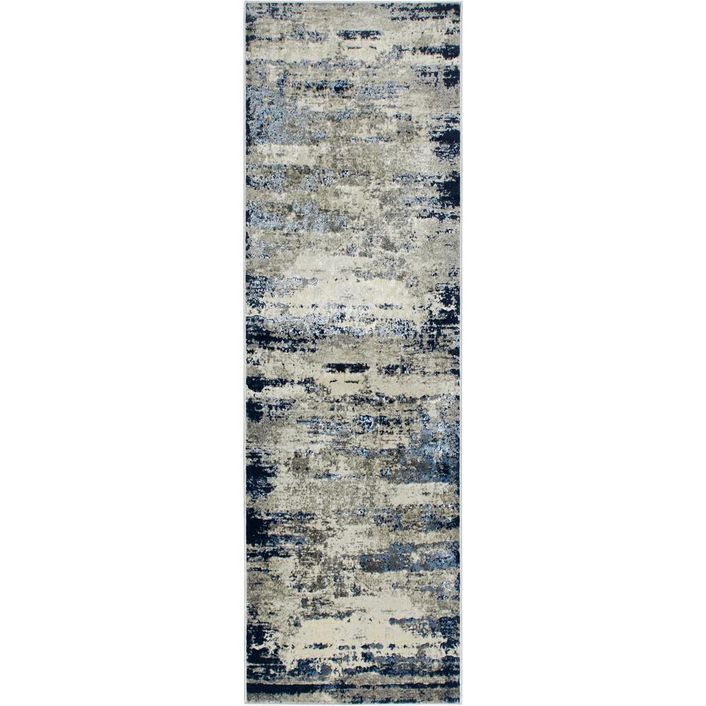 Killington Gray/Blue 2 ft. 2 in. x 7 ft. 2 in. Indoor Runner