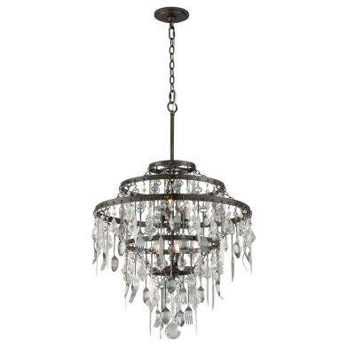Bistro 6-Light Graphite Chandelier