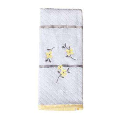 Spring Garden 16 in. W x 26 in. L Cotton Embroidered Hand Towel