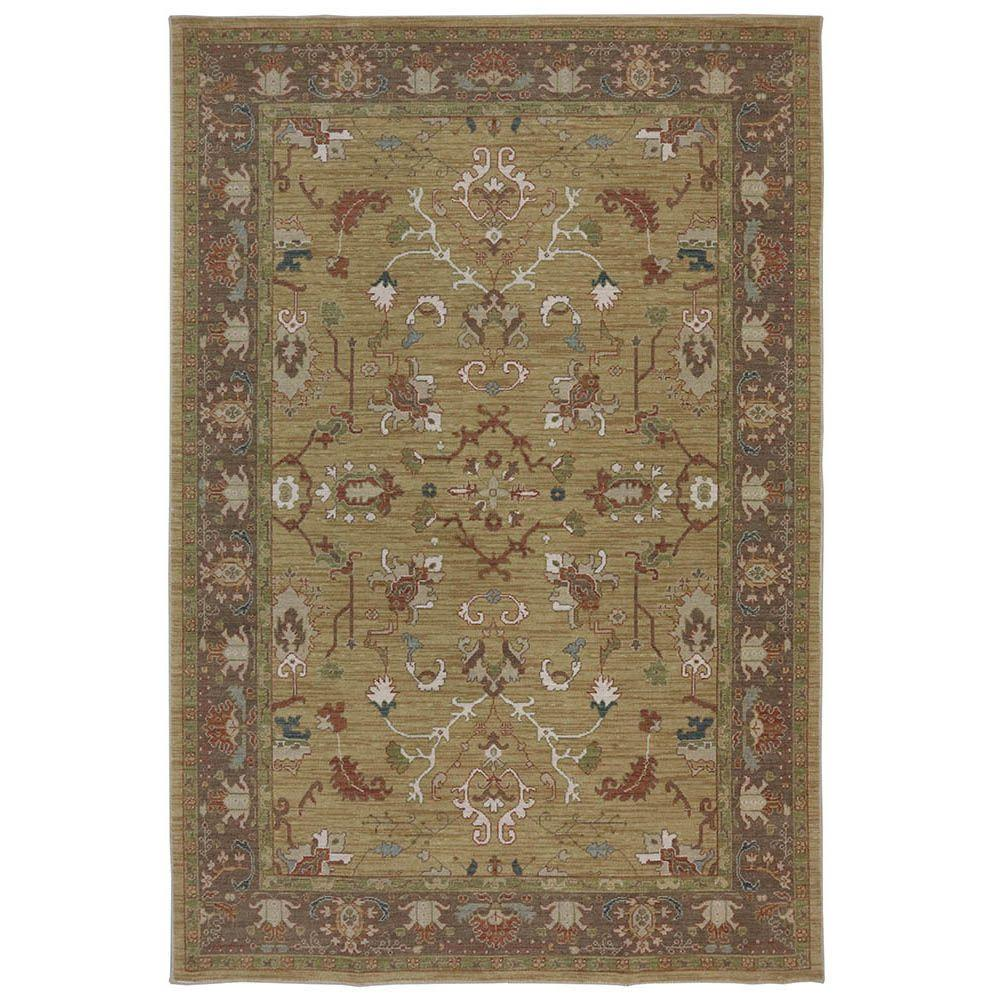 Karastan Cornwall Gold 5 ft. 3 in. x 8 ft. 3 in. Area Rug
