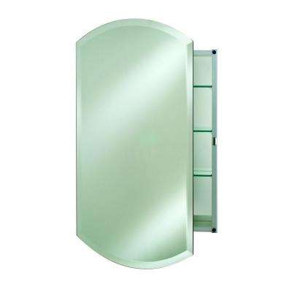 24 in. x 38 in. Single Door Double Arch Medicine Cabinet