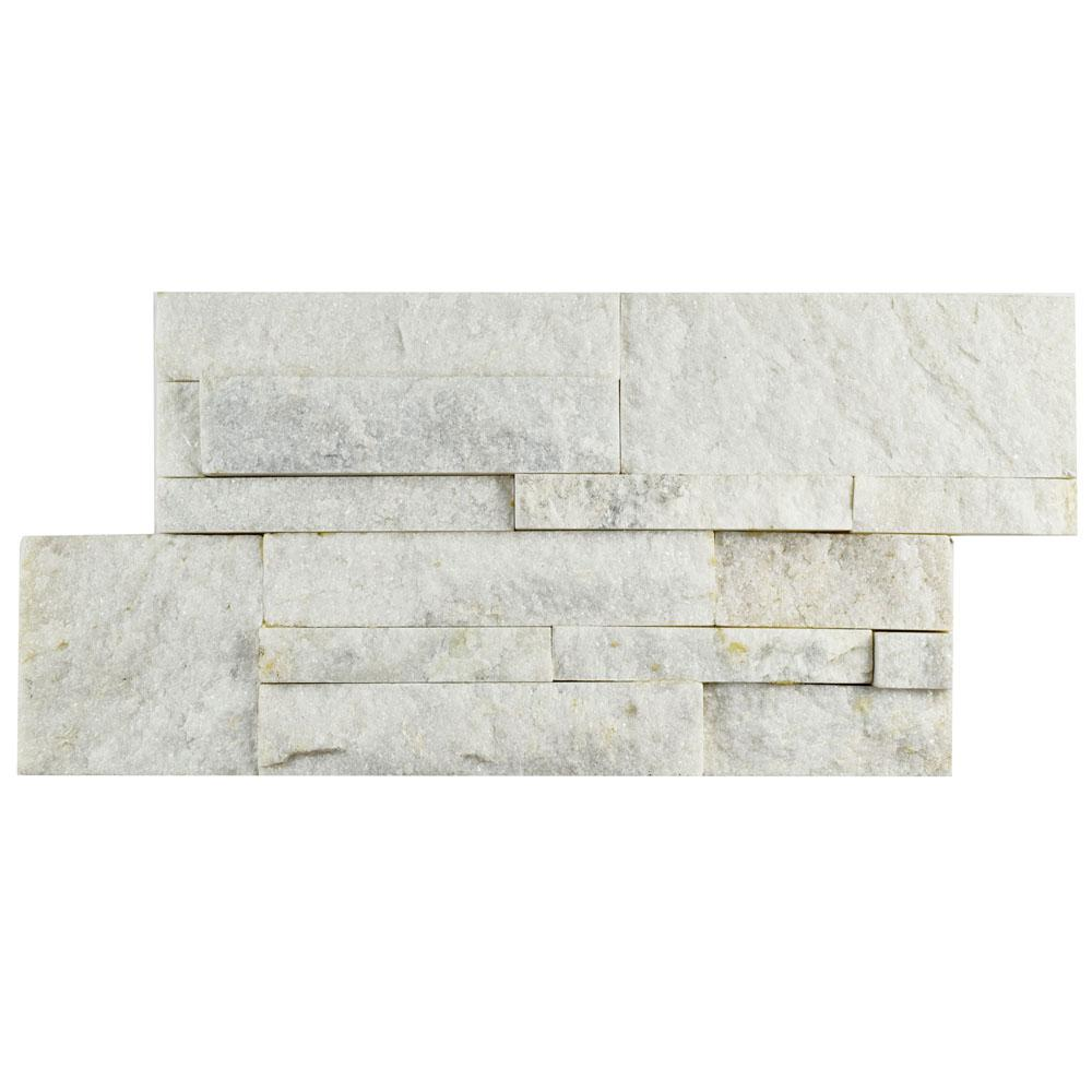 Merola Tile Ledger Panel White Quartzite 7 in. x 13-1/2 in ...