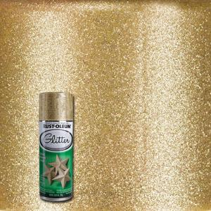 10.25 oz. Gold Glitter Spray Paint