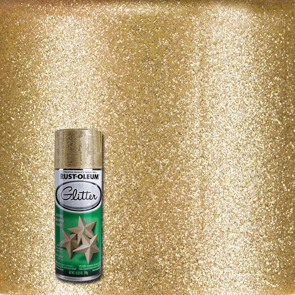 10.25 oz. Gold Glitter Spray Paint