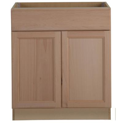 Easthaven Shaker Assembled 30x34.5x24 in. Frameless Base Cabinet with Drawer in Unfinished Beech