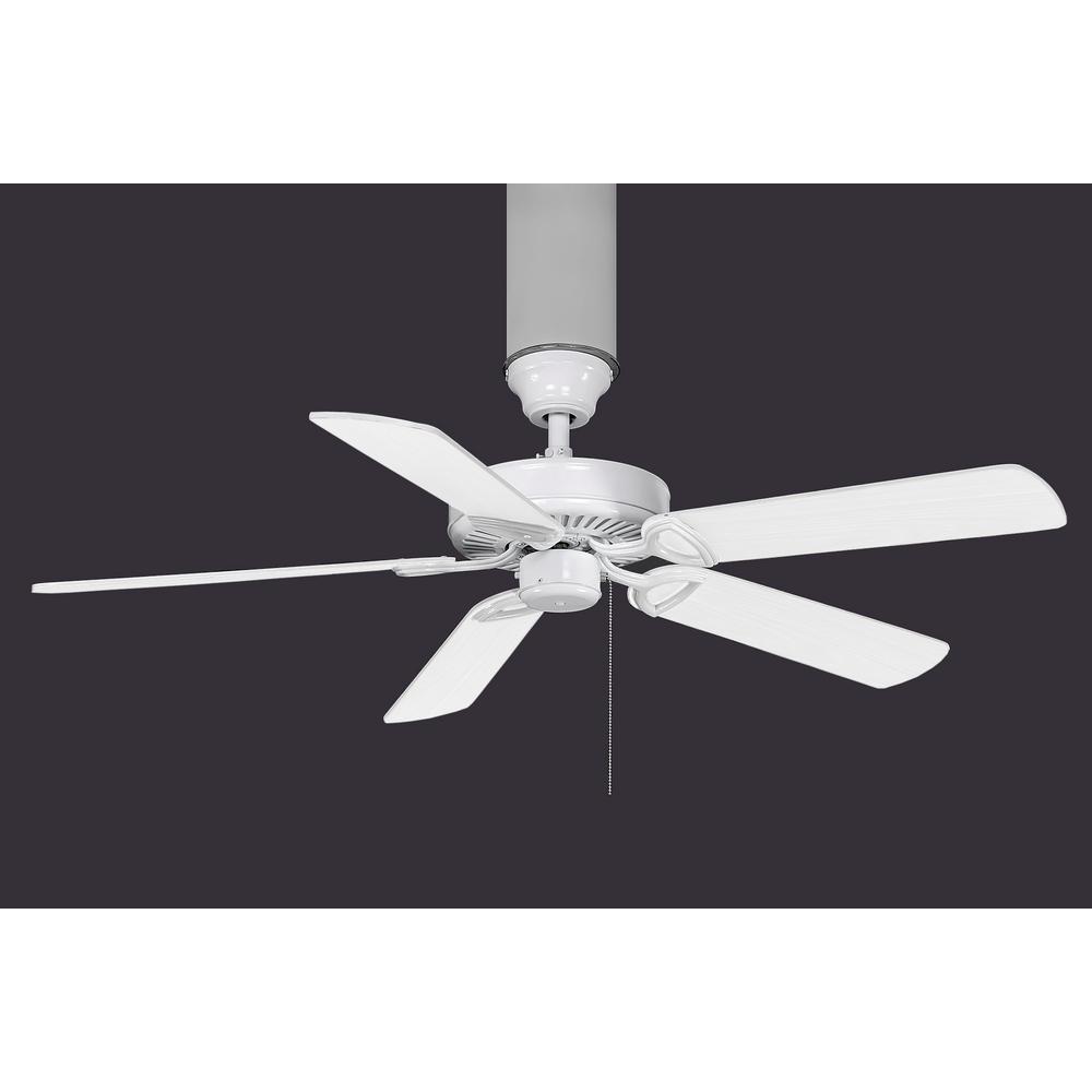 Nevaeh 52 in. 3-Blade Gloss White Ceiling Fan