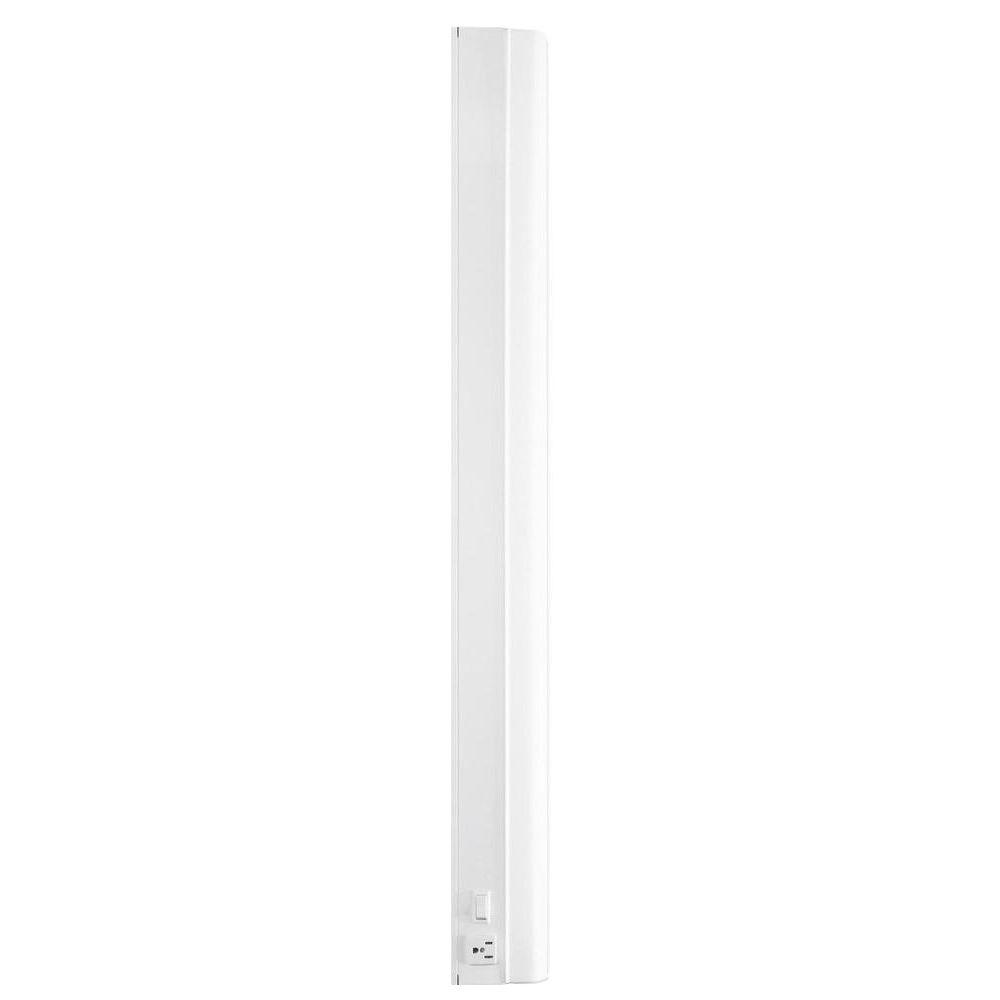 Westek 36.22 in. Flourescent White 25-Watt Direct Wire with Outlet