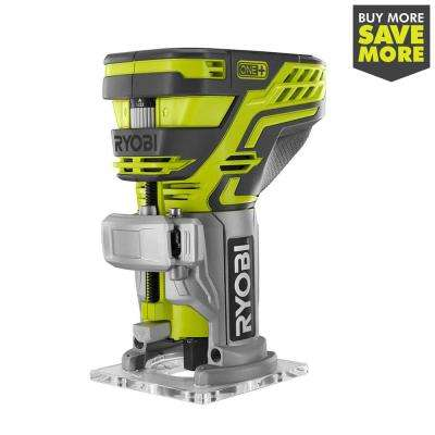 18-Volt ONE+ Cordless Fixed Base Trim Router (Tool Only) with Tool Free Depth Adjustment