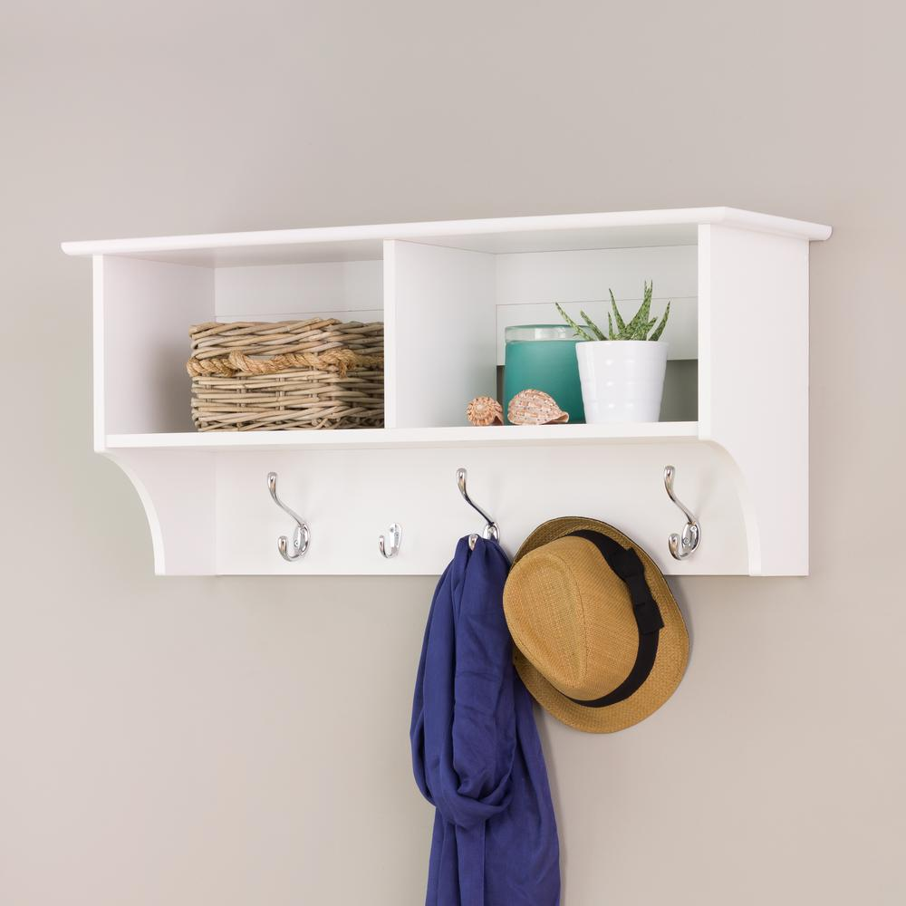 organizer iron mounted attched hanger racks storage broken with rack on white shelf valuable wooden coat wall wrought distressed for better black