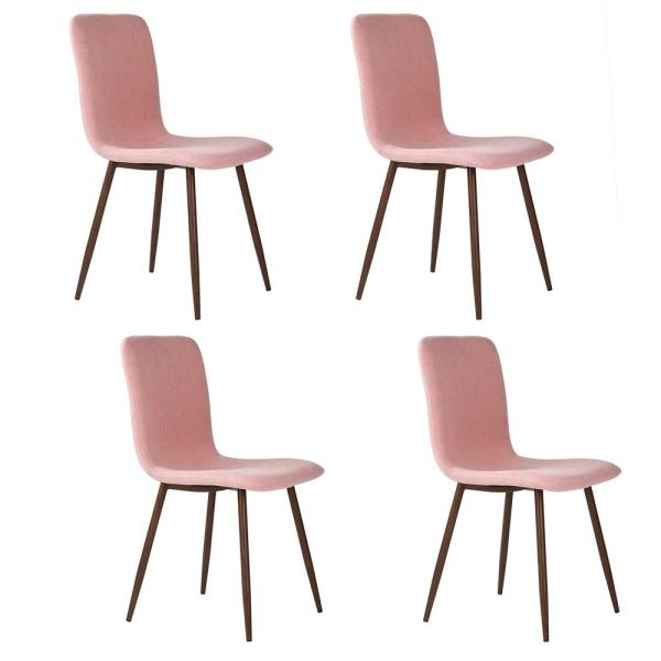 Scargill Pink Fabric Dining Chair (Set of 4)
