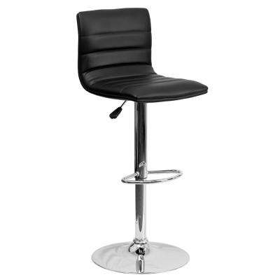 Adjustable Height Black Cushioned Bar Stool  sc 1 st  The Home Depot & Swivel - Bar Stools - Kitchen u0026 Dining Room Furniture - The Home Depot islam-shia.org