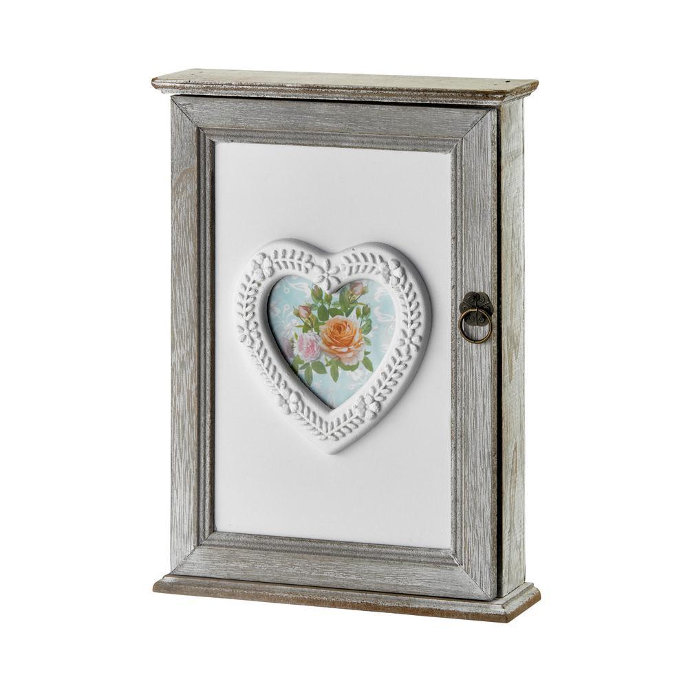 Rustic Wood Key Cabinet Box
