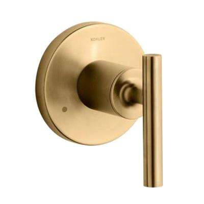 Purist 1-Handle Transfer Valve Trim Kit in Vibrant Modern Brushed Gold (Valve Not Included)