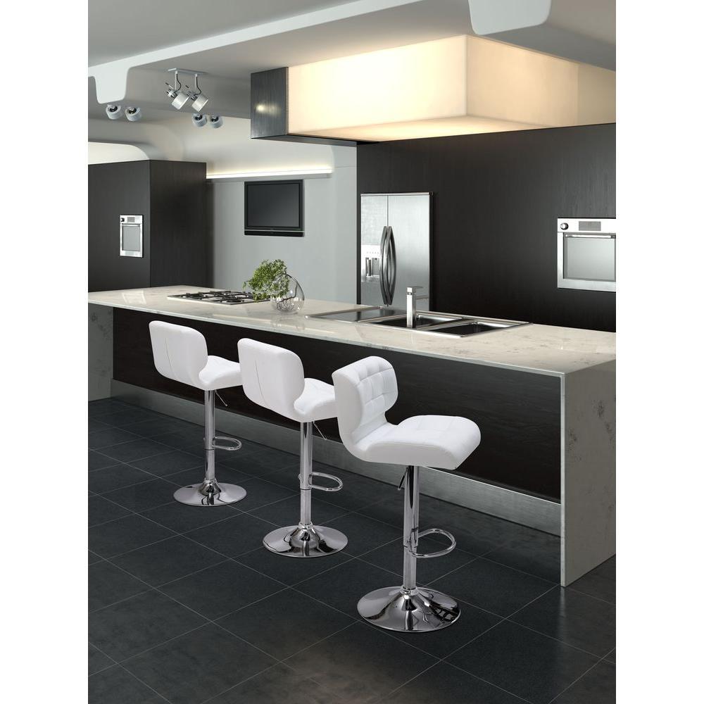 Fabulous Formula Adjustable Height Black Cushioned Bar Stool Creativecarmelina Interior Chair Design Creativecarmelinacom