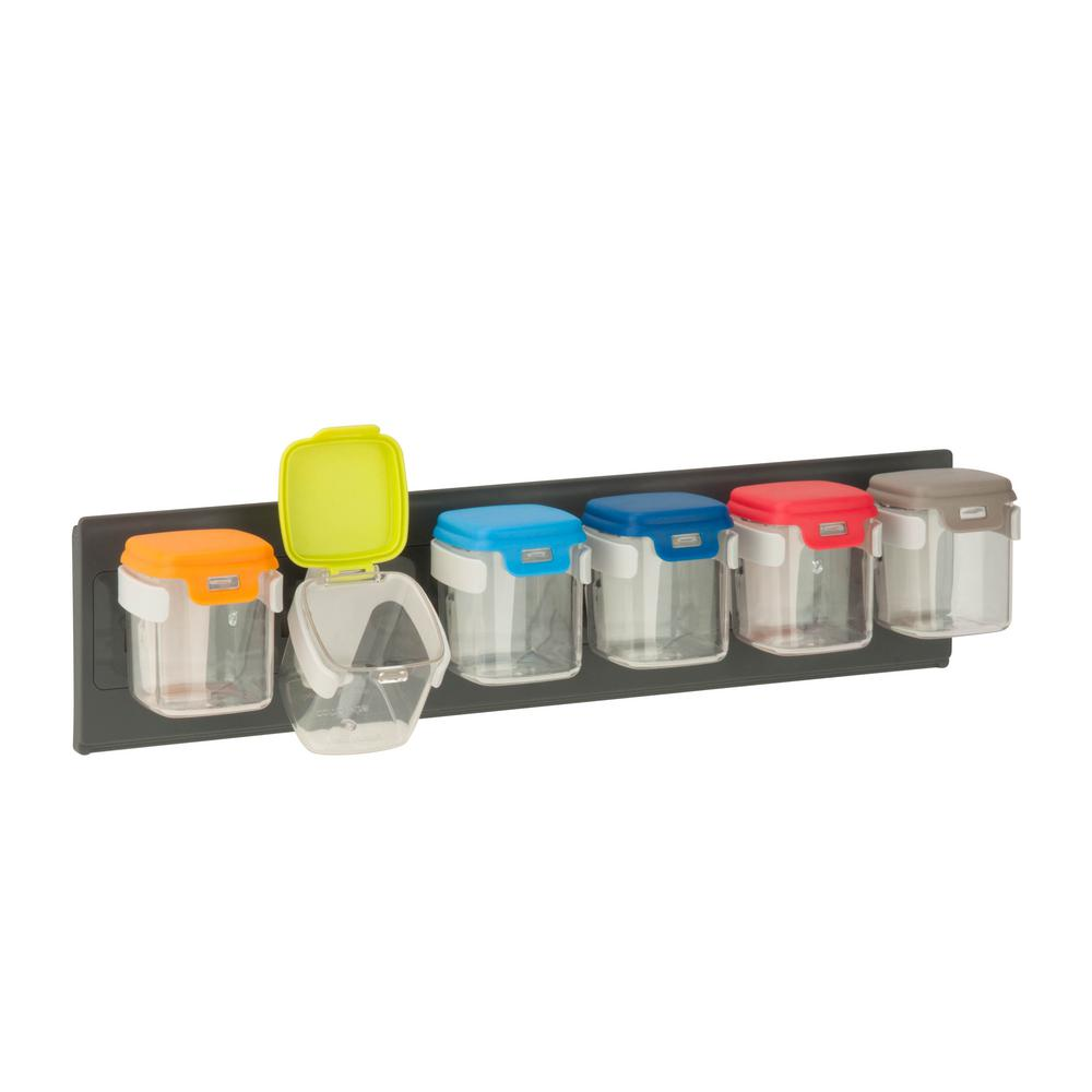 Flip-6 Wall-Mounted Storage Organizers