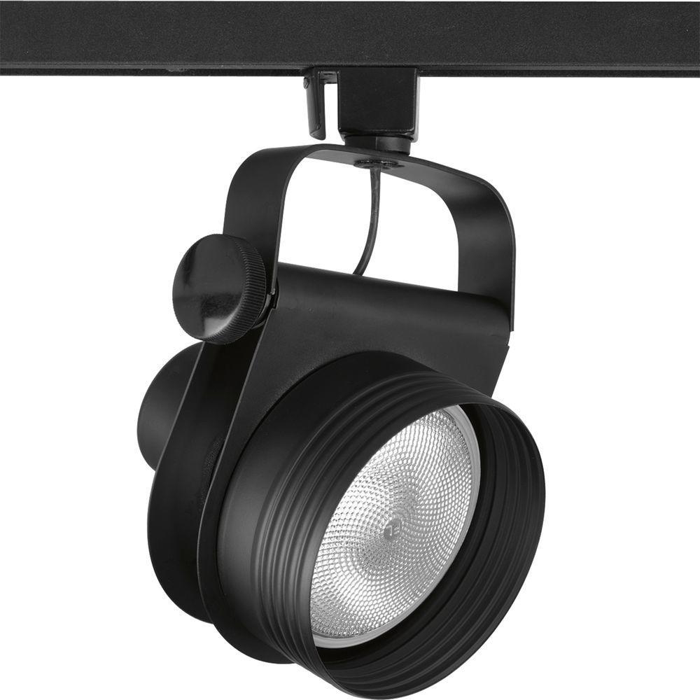 Progress Lighting Alpha Trak Collection Black 1-light Track Head-DISCONTINUED