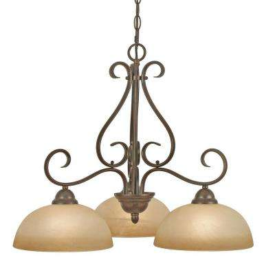 Myers Collection 3-Light Peppercorn Chandelier