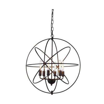 Vienna 6-Light Dark Bronze Pendant Lamp