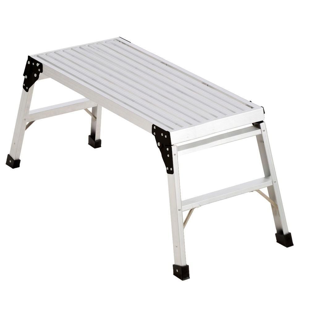 Werner 48 in. x 16 in. x 20 in. Pro Deck Aluminum Work Platform-AP ...