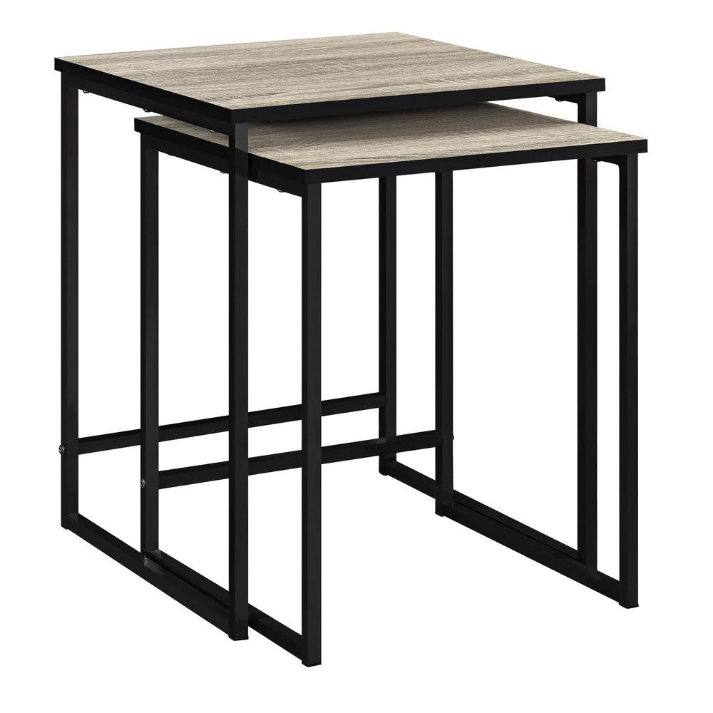Kirkwood 2-Piece Gray Sonoma Oak Nesting End Table