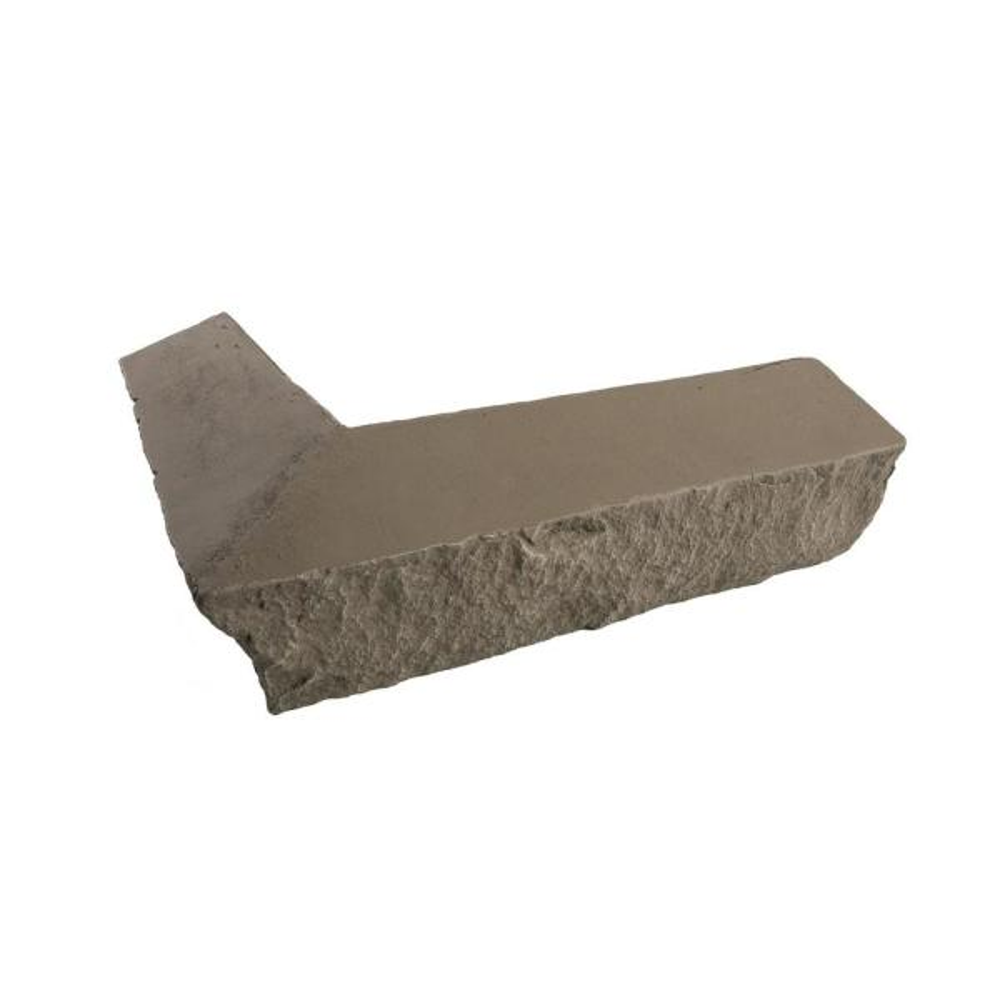 Stacked Stone Stratford 14 in. x 2 in. x 3.5 in. Faux Stone Siding Outside Corner Ledger