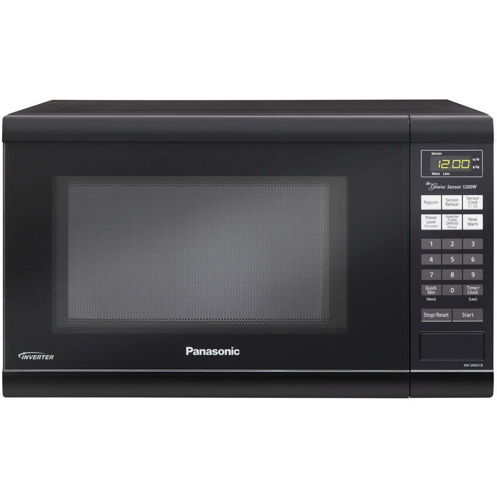Panasonic Family Size 1 2 Cu Ft 1200 Watt Countertop Microwave In Black
