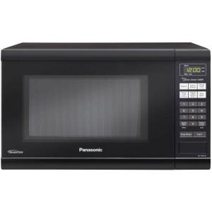 Panasonic Family Size 1 2 Cu Ft 1200 Watt Countertop Microwave In Black Nn Sn651b The Home Depot