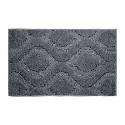 Mia Gun Metal 21 in. x 34 in. Bath Mat