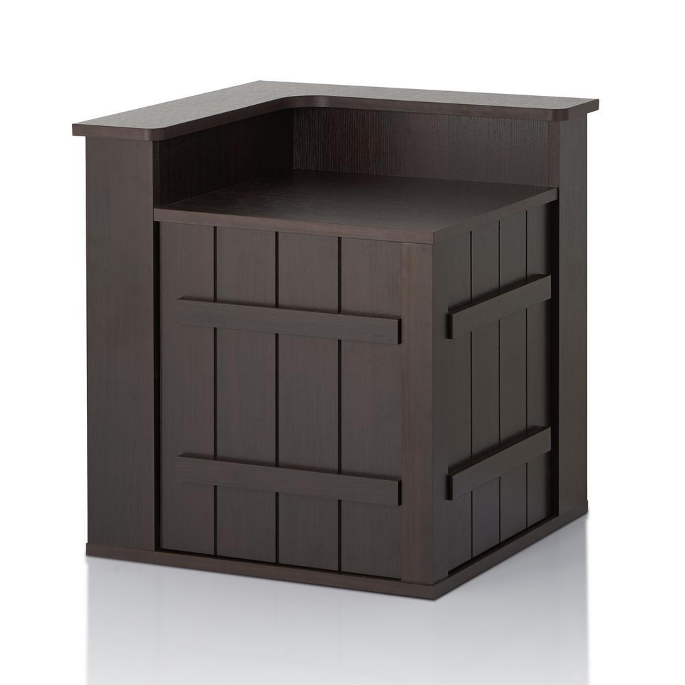 Grace Espresso 1-Cabinet End Table