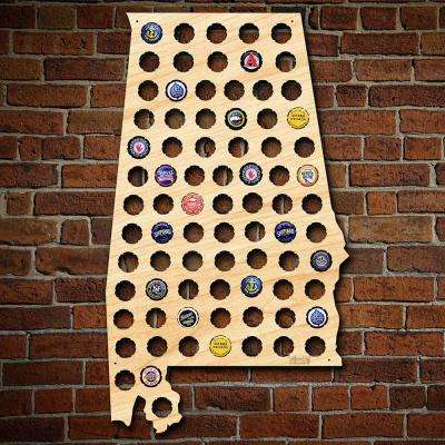 """Alabama Beer Cap Map"" Large Wall Decor"