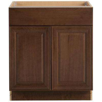 Benton Assembled 30x34.5x24.63 in. Base Cabinet with Soft Close Full Extension Drawer in Butterscotch