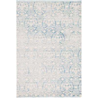 Arcadia Light Blue 7 ft. x 10 ft. Area Rug