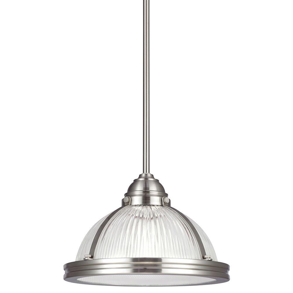 seagull pendant lighting. Sea Gull Lighting Pratt Street Prismatic 1-Light Brushed Nickel Pendant With Glass And Diffuser Seagull N