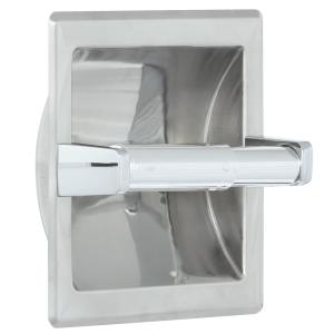 Franklin Brass Futura Recessed Toilet Paper Holder in Chrome by Franklin Brass
