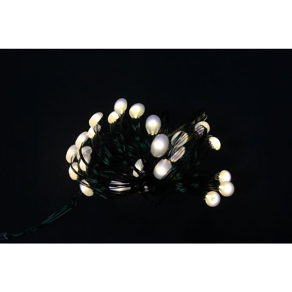 8 ft. 24 LEDs Ultra Slim Wire Warm White Large Dot