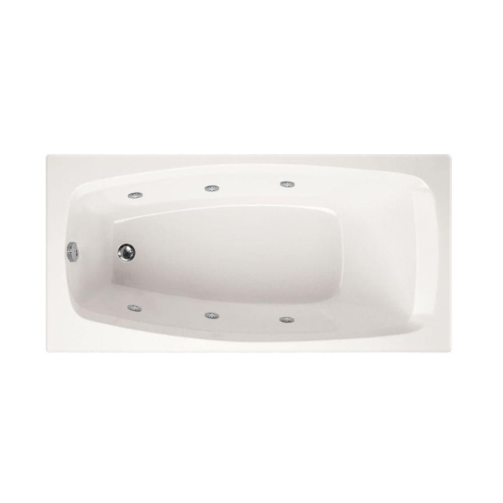 Reversible Drain Whirlpool Tub in White. Jetted Whirlpool   Drop in Bathtubs   Bathtubs   The Home Depot