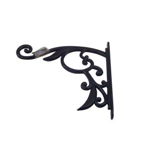 9 In Black Iron Decorative Plant Bracket 753406 The