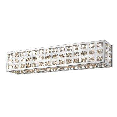 Logan Collection 22.13 in. 4-Light Chrome Vanity Light