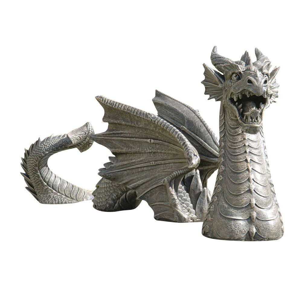 Design Toscano 13.5 In. The Dragon of Falkenberg Castle Moat Lawn Statue-DISCONTINUED