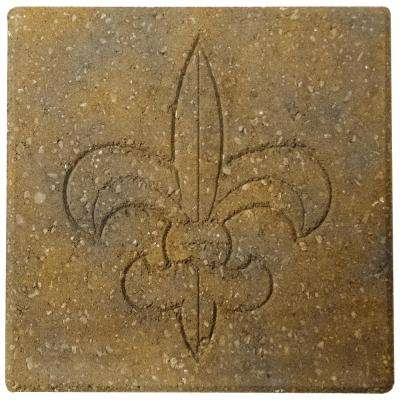 Fleur De Lis 12 in. x 12 in. x 1.57 in. Antique Buff Concrete Step Stone (168-Pieces/168 sq. ft./Pallet)