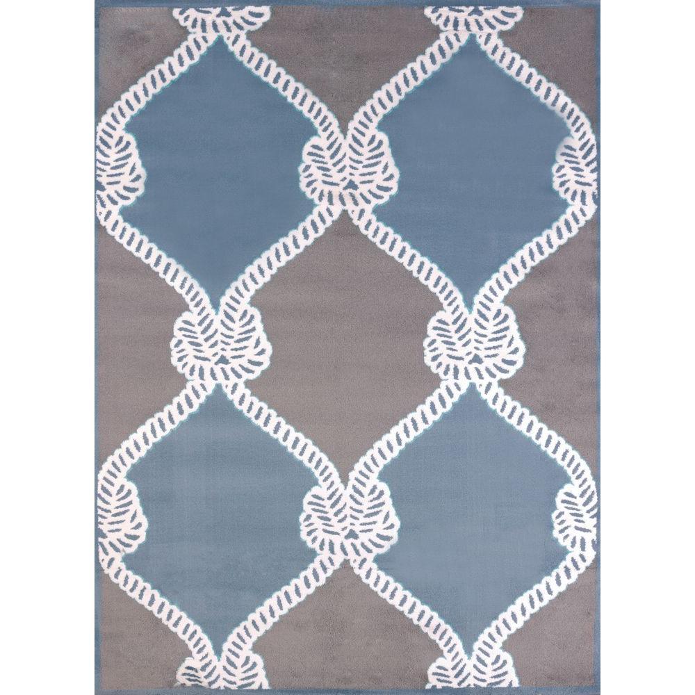 Cordage Blue 8 ft. x 11 ft. Indoor Area Rug