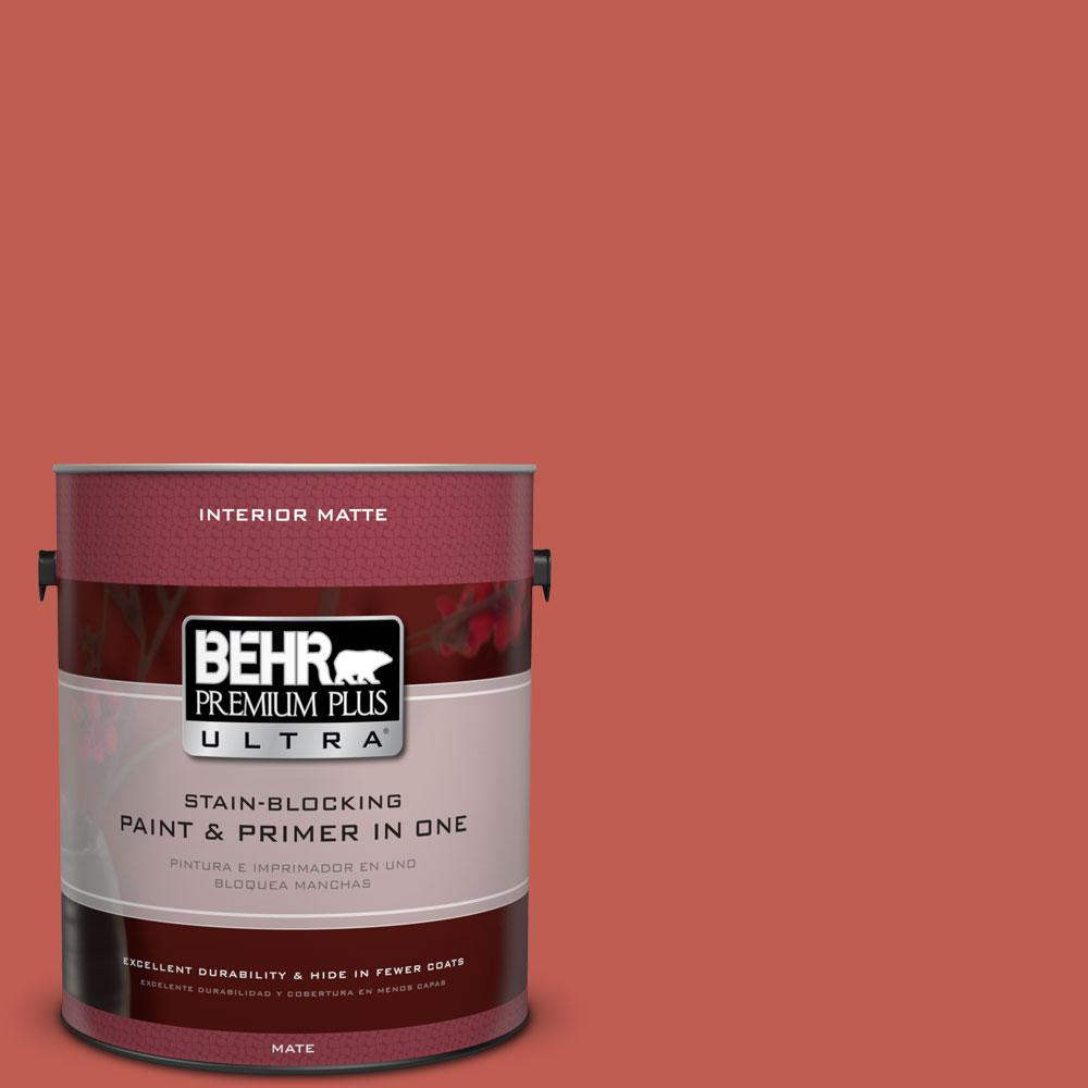1 gal. #190D-6 Red Jalapeno Flat/Matte Interior Paint
