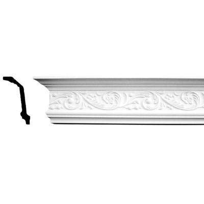 4-1/2 in. x 2-1/2 in. x 94-1/2 in. Floral Polyurethane Crown Moulding