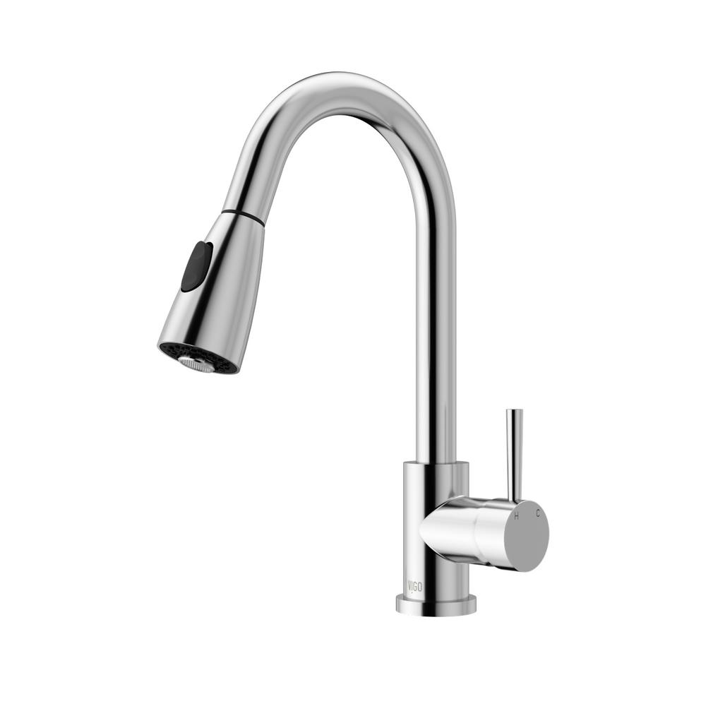 vigo kitchen faucet vigo single handle pull out sprayer kitchen faucet in chrome vg02005ch the home depot 891