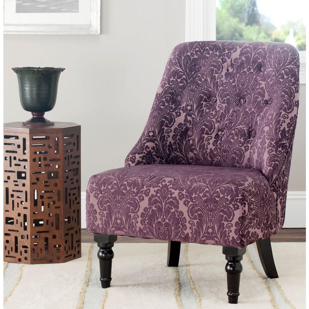 Amondi Purple-Peach Accent Chair