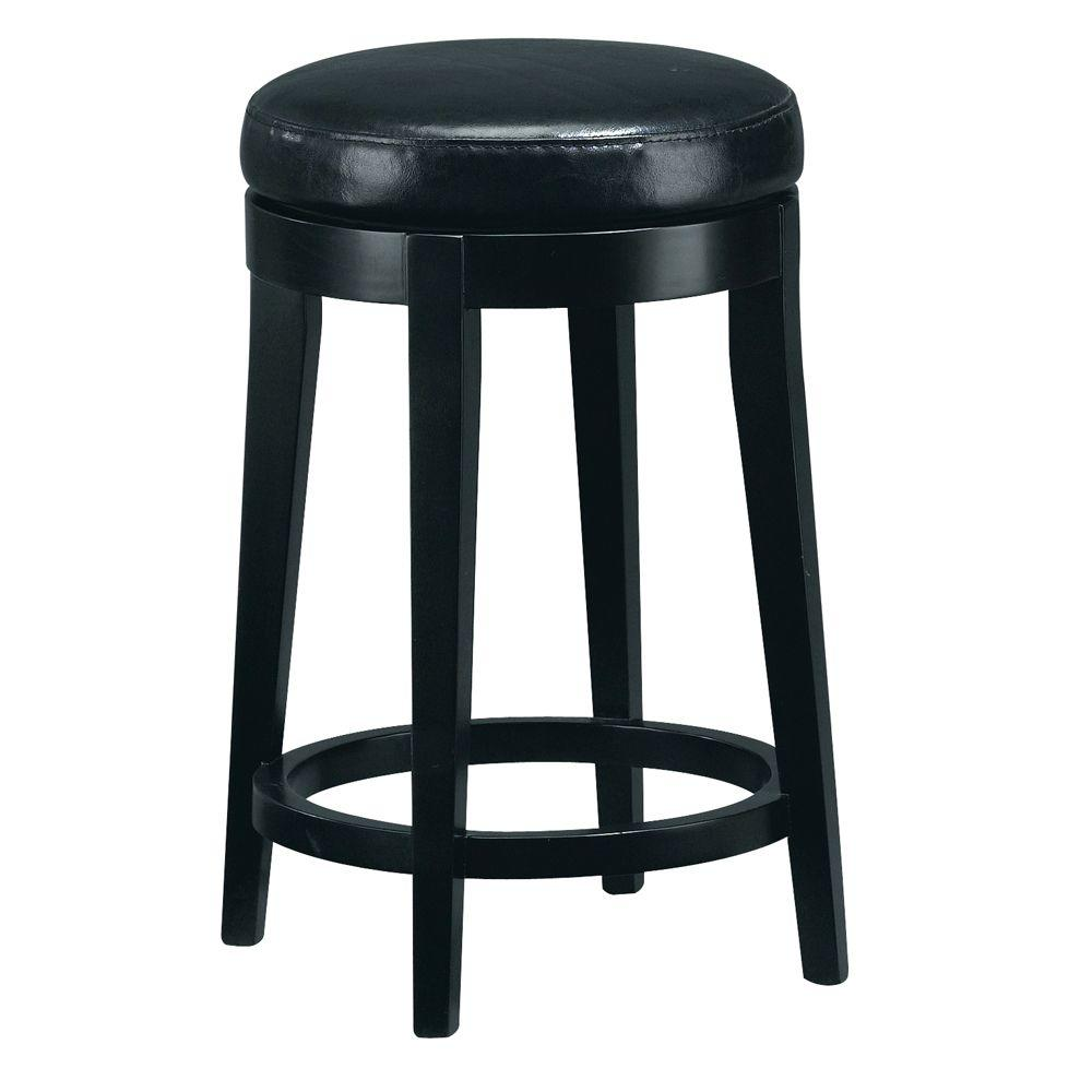 Home Decorators Collection 24 In Black Cushioned Swivel Counter Stool 4472210210 The Home Depot